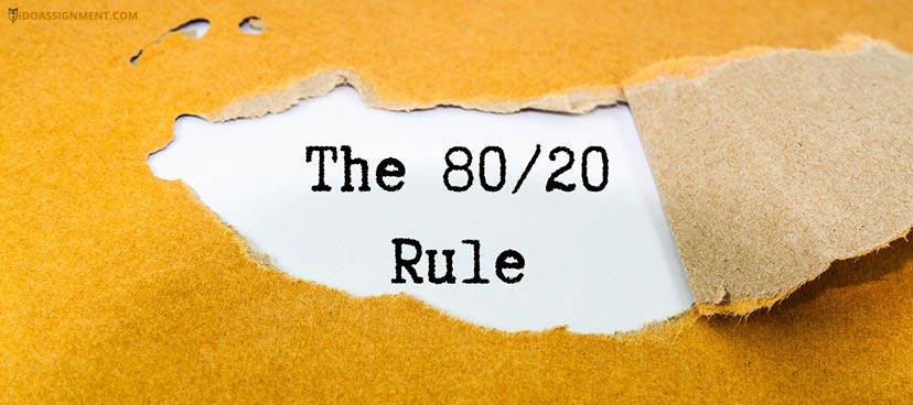 80/20 Pareto Principle