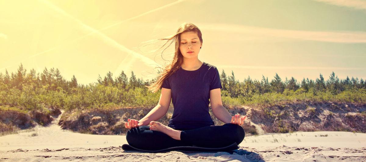 girl in Buddha pose